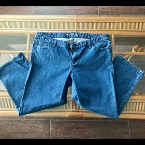 Cropped Michael Kors Blue Jeans with Pockets 10